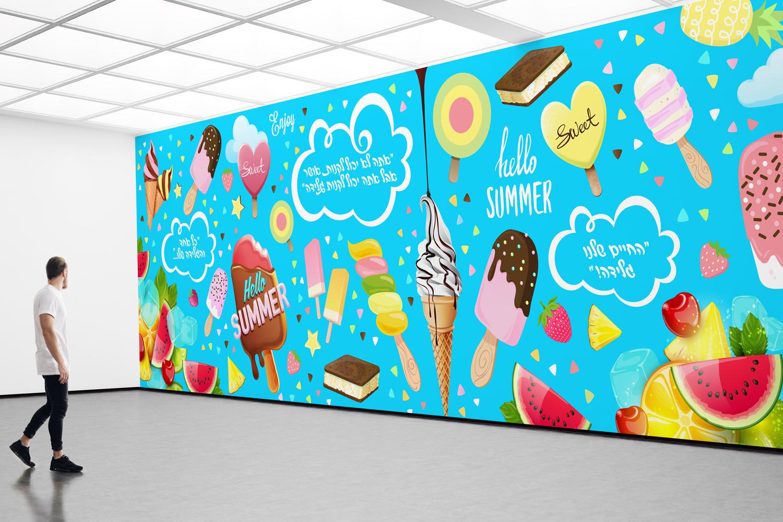 עיצוב-טאפט-לחנות-גלידות