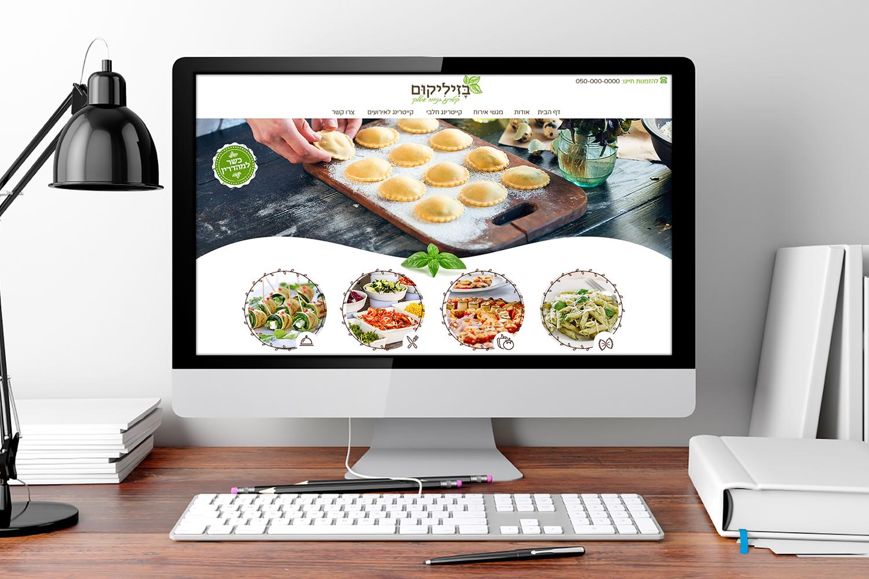 עיצוב אתרי לחברת קיטרינג חלבי בגליל